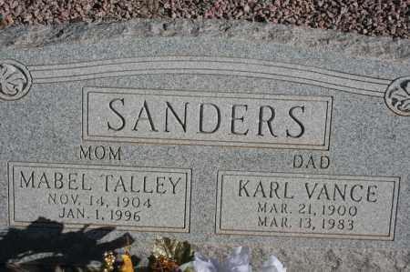 SANDERS, KARL VANCE - Graham County, Arizona | KARL VANCE SANDERS - Arizona Gravestone Photos