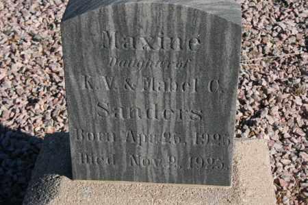 SANDERS, MAXINE - Graham County, Arizona | MAXINE SANDERS - Arizona Gravestone Photos