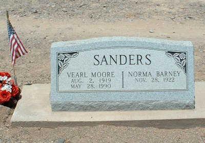 SANDERS, VEARL MOORE - Graham County, Arizona   VEARL MOORE SANDERS - Arizona Gravestone Photos