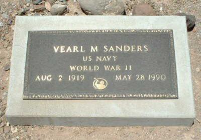 SANDERS, VEARL M. - Graham County, Arizona | VEARL M. SANDERS - Arizona Gravestone Photos