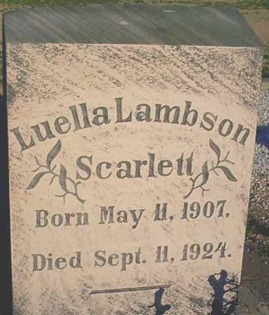 LAMBSON SCARLETT, LUELLA - Graham County, Arizona | LUELLA LAMBSON SCARLETT - Arizona Gravestone Photos