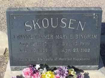 SKOUSEN, JOHN WAYNE WIMMER - Graham County, Arizona | JOHN WAYNE WIMMER SKOUSEN - Arizona Gravestone Photos