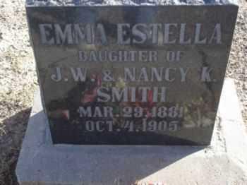 SMITH, EMMA ESTELLA - Graham County, Arizona   EMMA ESTELLA SMITH - Arizona Gravestone Photos
