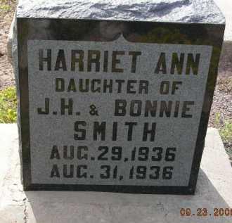 SMITH, HARRIET ANN - Graham County, Arizona | HARRIET ANN SMITH - Arizona Gravestone Photos