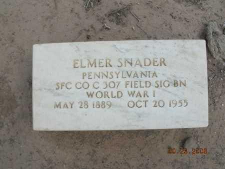 SNADER, ELMER - Graham County, Arizona | ELMER SNADER - Arizona Gravestone Photos
