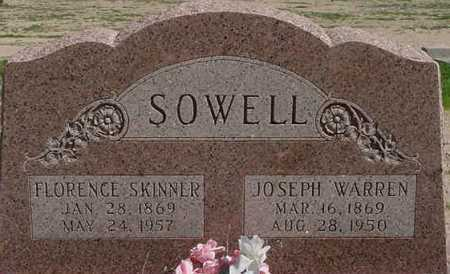 SOWELL, JOSEPH WARREN - Graham County, Arizona | JOSEPH WARREN SOWELL - Arizona Gravestone Photos