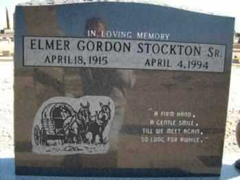 STOCKTON, ELMER GORDON - Graham County, Arizona | ELMER GORDON STOCKTON - Arizona Gravestone Photos
