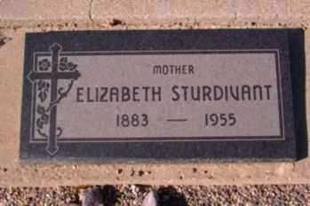 STURDIVANT, ELIZABETH - Graham County, Arizona | ELIZABETH STURDIVANT - Arizona Gravestone Photos