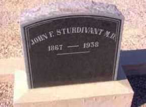 STURDIVANT, JOHN FREELAN (M.D.) - Graham County, Arizona | JOHN FREELAN (M.D.) STURDIVANT - Arizona Gravestone Photos