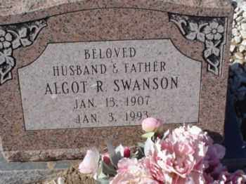 SWANSON, ALGOT RAYMOND - Graham County, Arizona | ALGOT RAYMOND SWANSON - Arizona Gravestone Photos