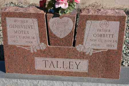 MOTES TALLEY, GENEVIEVE - Graham County, Arizona | GENEVIEVE MOTES TALLEY - Arizona Gravestone Photos