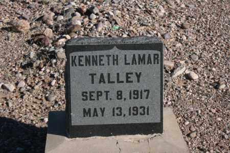 TALLEY, KENNETH LAMAR - Graham County, Arizona   KENNETH LAMAR TALLEY - Arizona Gravestone Photos