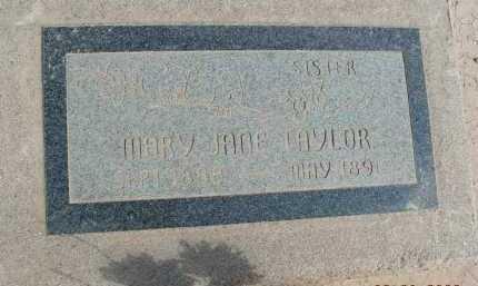 TAYLOR, MARY JANE - Graham County, Arizona | MARY JANE TAYLOR - Arizona Gravestone Photos