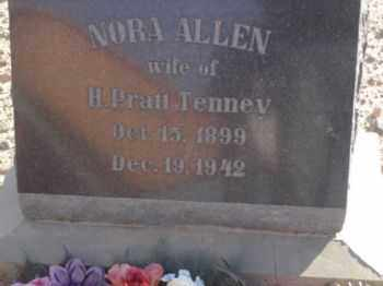 ALLEN TENNEY, NORA - Graham County, Arizona | NORA ALLEN TENNEY - Arizona Gravestone Photos