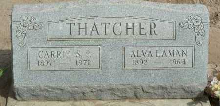 THATCHER, ALVA LAMAN - Graham County, Arizona | ALVA LAMAN THATCHER - Arizona Gravestone Photos