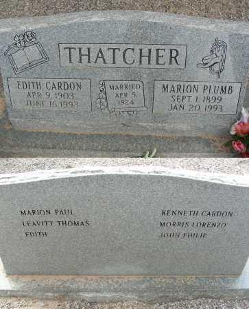 CARDON THATCHER, EDITH - Graham County, Arizona | EDITH CARDON THATCHER - Arizona Gravestone Photos