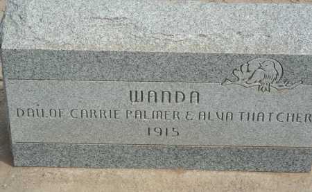 THATCHER, WANDA - Graham County, Arizona | WANDA THATCHER - Arizona Gravestone Photos