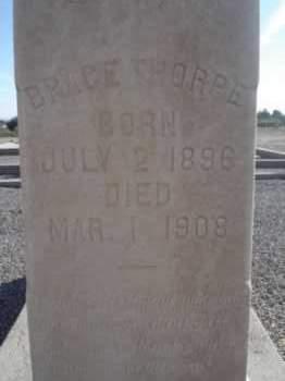 THORPE, BRACE - Graham County, Arizona | BRACE THORPE - Arizona Gravestone Photos