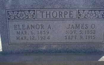 ALLEN THORPE, ELEANOR ANN - Graham County, Arizona   ELEANOR ANN ALLEN THORPE - Arizona Gravestone Photos