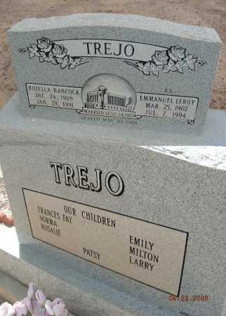 HANCOCK TREJO, ROZELLA - Graham County, Arizona | ROZELLA HANCOCK TREJO - Arizona Gravestone Photos