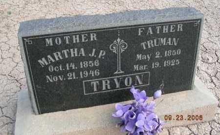 TRYON, MARTHA J P - Graham County, Arizona | MARTHA J P TRYON - Arizona Gravestone Photos