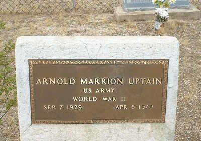 UPTAIN, ARNOLD MARRION - Graham County, Arizona | ARNOLD MARRION UPTAIN - Arizona Gravestone Photos