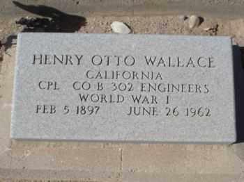 WALLACE, HENRY OTTO - Graham County, Arizona | HENRY OTTO WALLACE - Arizona Gravestone Photos