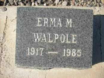 WALPOLE, ERMA M. - Graham County, Arizona | ERMA M. WALPOLE - Arizona Gravestone Photos