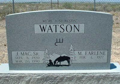 WATSON, J. MAC, SR. - Graham County, Arizona | J. MAC, SR. WATSON - Arizona Gravestone Photos