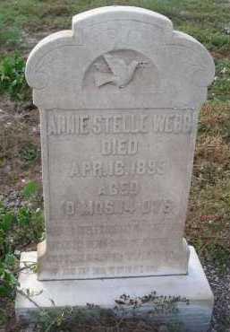 WEBB, ANNIE STELLE - Graham County, Arizona | ANNIE STELLE WEBB - Arizona Gravestone Photos