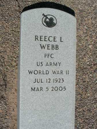 WEBB, REECE L - Graham County, Arizona   REECE L WEBB - Arizona Gravestone Photos
