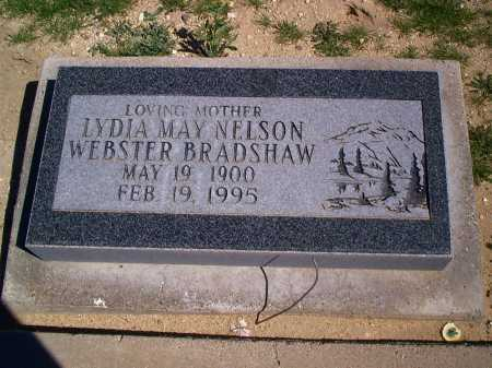 WEBSTER - BRADSHAW, LYDIA MAY - Graham County, Arizona | LYDIA MAY WEBSTER - BRADSHAW - Arizona Gravestone Photos