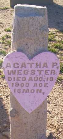 WEBSTER, AGATHA PEARL - Graham County, Arizona | AGATHA PEARL WEBSTER - Arizona Gravestone Photos