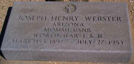 WEBSTER, JOSEPH HENRY - Graham County, Arizona | JOSEPH HENRY WEBSTER - Arizona Gravestone Photos