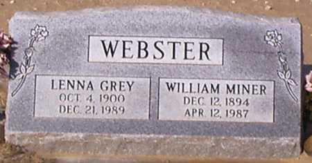WEBSTER, WILLIAM MINER - Graham County, Arizona | WILLIAM MINER WEBSTER - Arizona Gravestone Photos