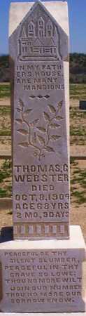 WEBSTER, THOMAS GEORGE - Graham County, Arizona | THOMAS GEORGE WEBSTER - Arizona Gravestone Photos