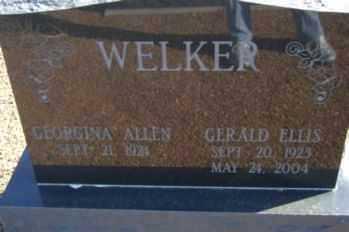 WELKER, GEORGINA - Graham County, Arizona   GEORGINA WELKER - Arizona Gravestone Photos