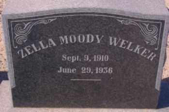 WELKER, ZELLA - Graham County, Arizona | ZELLA WELKER - Arizona Gravestone Photos