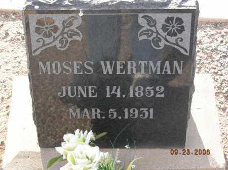 WERTMAN, MOSES - Graham County, Arizona   MOSES WERTMAN - Arizona Gravestone Photos
