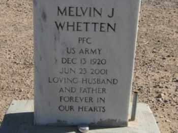 WHETTEN, MELVIN J. - Graham County, Arizona | MELVIN J. WHETTEN - Arizona Gravestone Photos