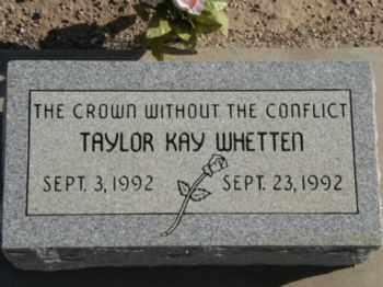 WHETTEN, TAYLOR KAY - Graham County, Arizona | TAYLOR KAY WHETTEN - Arizona Gravestone Photos