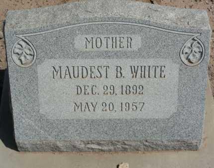 WHITE, MAUDEST B - Graham County, Arizona   MAUDEST B WHITE - Arizona Gravestone Photos
