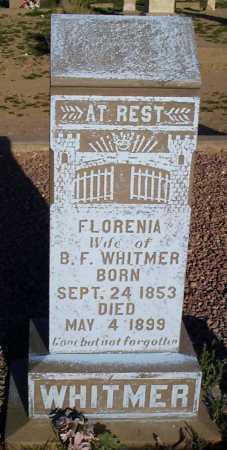 WHITMER, FLORENIA - Graham County, Arizona | FLORENIA WHITMER - Arizona Gravestone Photos