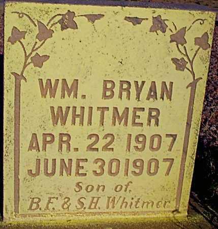 WHITMER, WILLIAM BRYAN - Graham County, Arizona | WILLIAM BRYAN WHITMER - Arizona Gravestone Photos