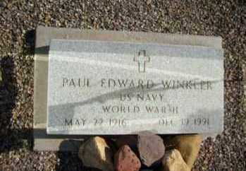 WINKLER, PAUL EDWARD - Graham County, Arizona | PAUL EDWARD WINKLER - Arizona Gravestone Photos