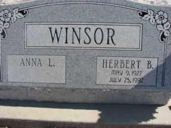 WINSOR, ANNA L. - Graham County, Arizona   ANNA L. WINSOR - Arizona Gravestone Photos