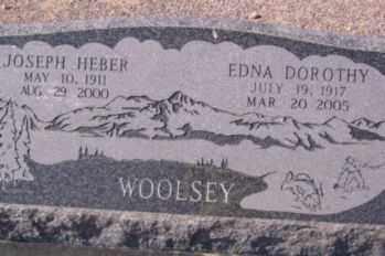 WOOLSEY, EDNA DOROTHY - Graham County, Arizona | EDNA DOROTHY WOOLSEY - Arizona Gravestone Photos