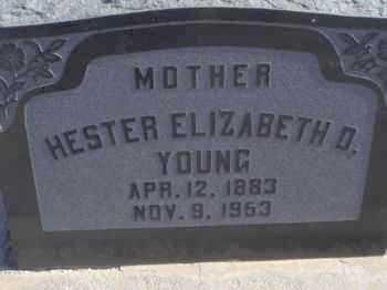 DAMERON YOUNG, HESTER ELIZABETH - Graham County, Arizona | HESTER ELIZABETH DAMERON YOUNG - Arizona Gravestone Photos