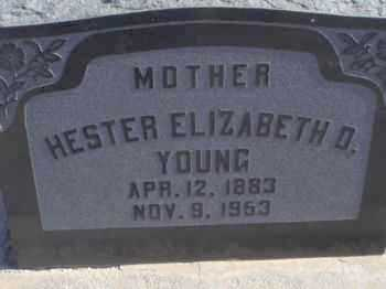 YOUNG, HESTER ELIZABETH - Graham County, Arizona | HESTER ELIZABETH YOUNG - Arizona Gravestone Photos