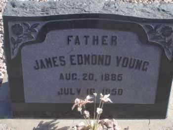 YOUNG, JAMES EDMOND - Graham County, Arizona   JAMES EDMOND YOUNG - Arizona Gravestone Photos